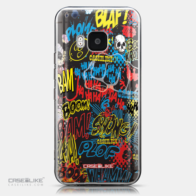 CASEiLIKE HTC One M9 back cover Comic Captions Black 2915
