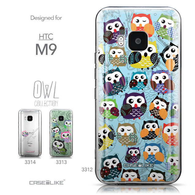 Collection - CASEiLIKE HTC One M9 back cover Owl Graphic Design 3312