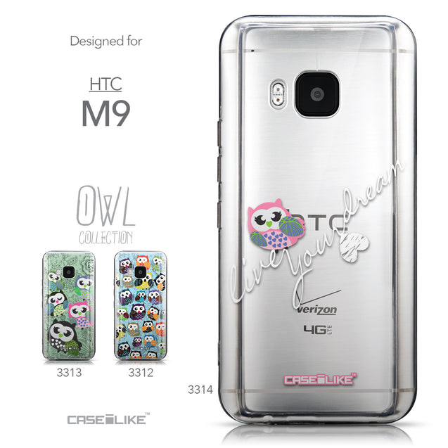 Collection - CASEiLIKE HTC One M9 back cover Owl Graphic Design 3314