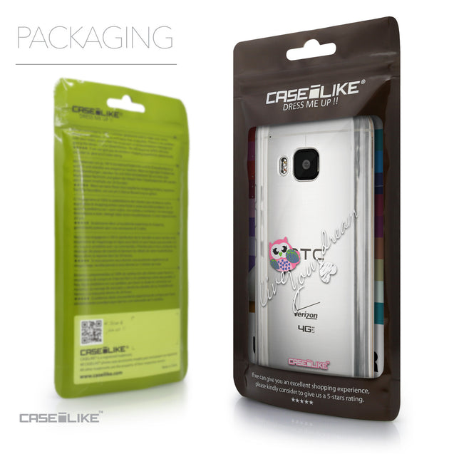 Packaging - CASEiLIKE HTC One M9 back cover Owl Graphic Design 3314