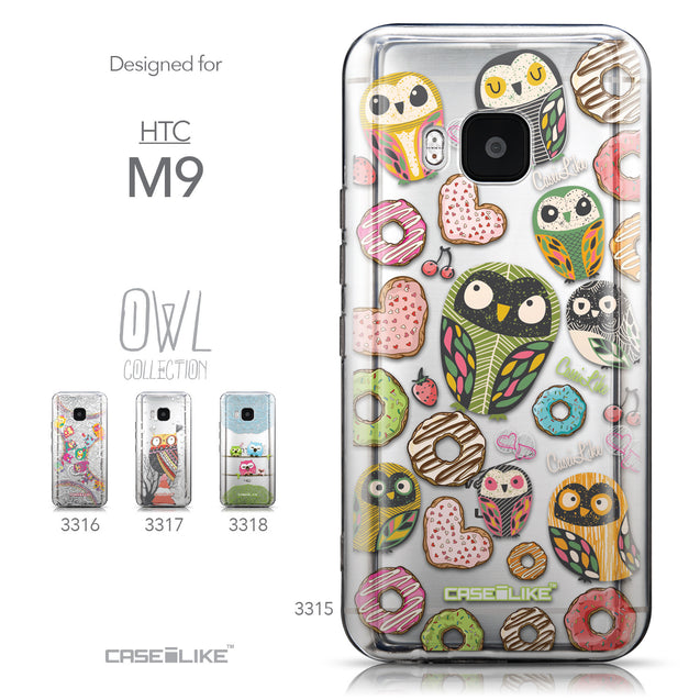 Collection - CASEiLIKE HTC One M9 back cover Owl Graphic Design 3315