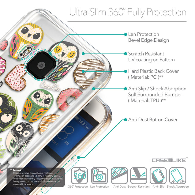Details in English - CASEiLIKE HTC One M9 back cover Owl Graphic Design 3315