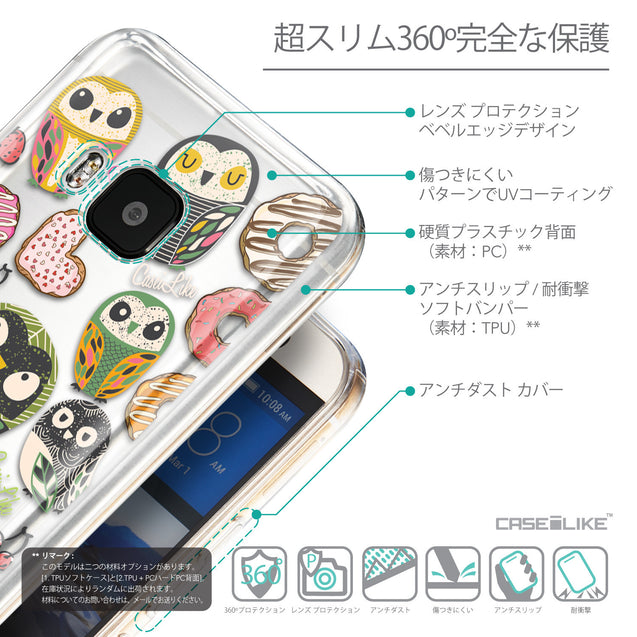 Details in Japanese - CASEiLIKE HTC One M9 back cover Owl Graphic Design 3315