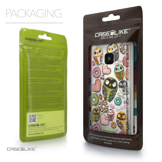 Packaging - CASEiLIKE HTC One M9 back cover Owl Graphic Design 3315