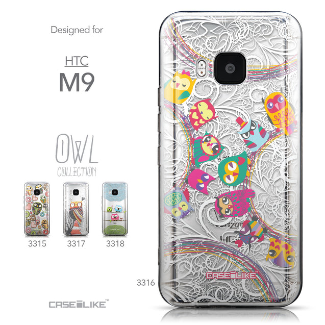 Collection - CASEiLIKE HTC One M9 back cover Owl Graphic Design 3316