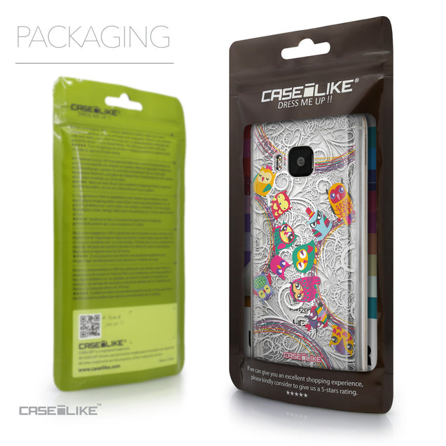 Packaging - CASEiLIKE HTC One M9 back cover Owl Graphic Design 3316