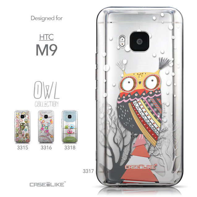 Collection - CASEiLIKE HTC One M9 back cover Owl Graphic Design 3317