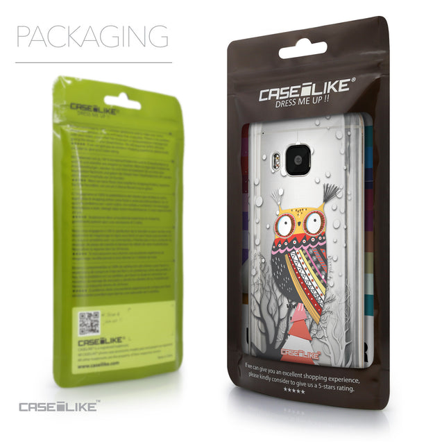 Packaging - CASEiLIKE HTC One M9 back cover Owl Graphic Design 3317