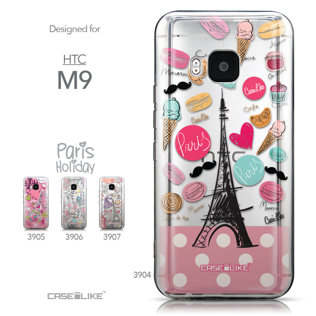 Collection - CASEiLIKE HTC One M9 back cover Paris Holiday 3904