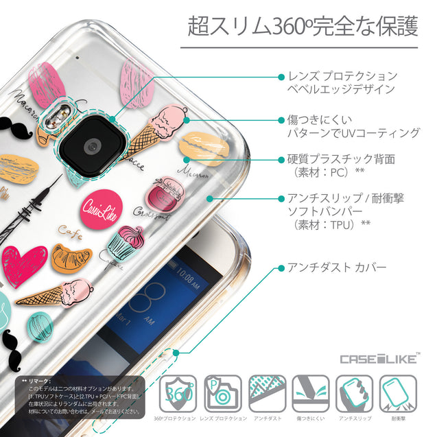 Details in Japanese - CASEiLIKE HTC One M9 back cover Paris Holiday 3904