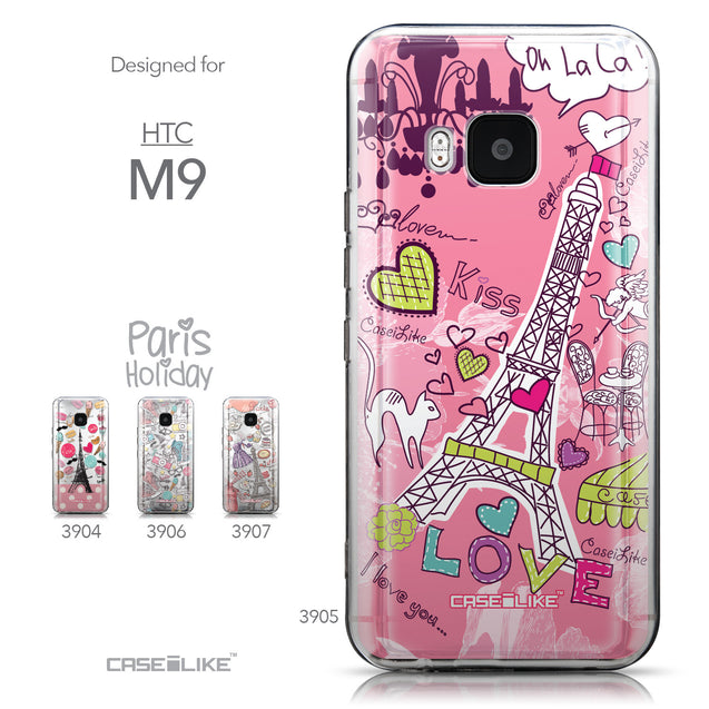 Collection - CASEiLIKE HTC One M9 back cover Paris Holiday 3905