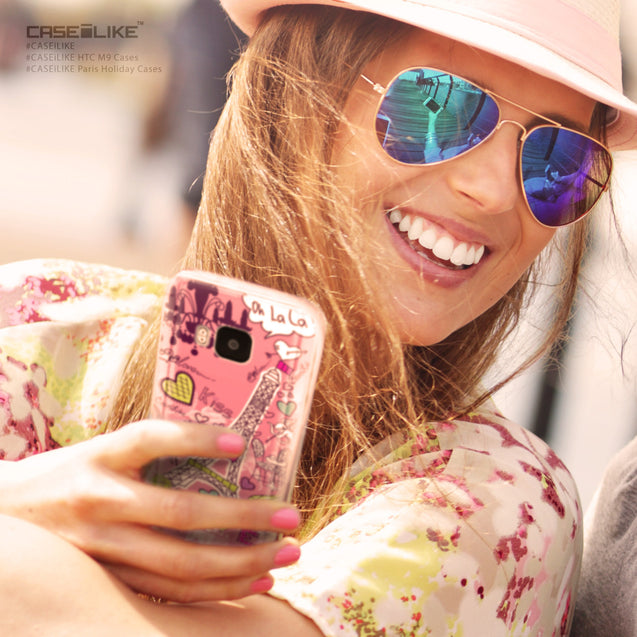 Share - CASEiLIKE HTC One M9 back cover Paris Holiday 3905