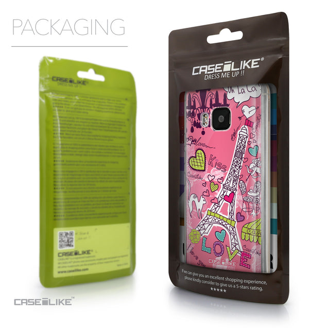 Packaging - CASEiLIKE HTC One M9 back cover Paris Holiday 3905