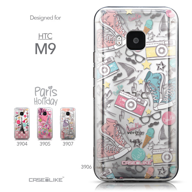 Collection - CASEiLIKE HTC One M9 back cover Paris Holiday 3906