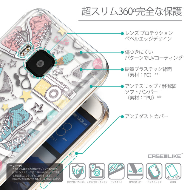 Details in Japanese - CASEiLIKE HTC One M9 back cover Paris Holiday 3906