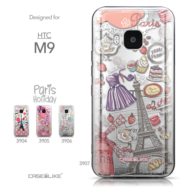 Collection - CASEiLIKE HTC One M9 back cover Paris Holiday 3907