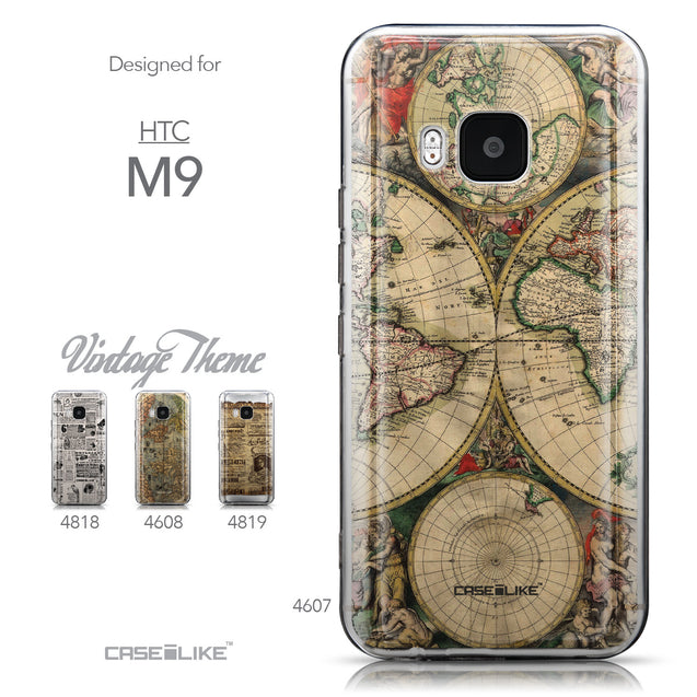 Collection - CASEiLIKE HTC One M9 back cover World Map Vintage 4607