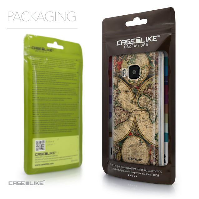Packaging - CASEiLIKE HTC One M9 back cover World Map Vintage 4607