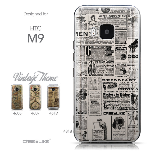 Collection - CASEiLIKE HTC One M9 back cover Vintage Newspaper Advertising 4818