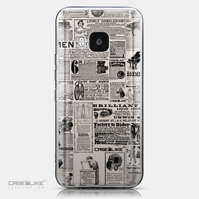 CASEiLIKE HTC One M9 back cover Vintage Newspaper Advertising 4818
