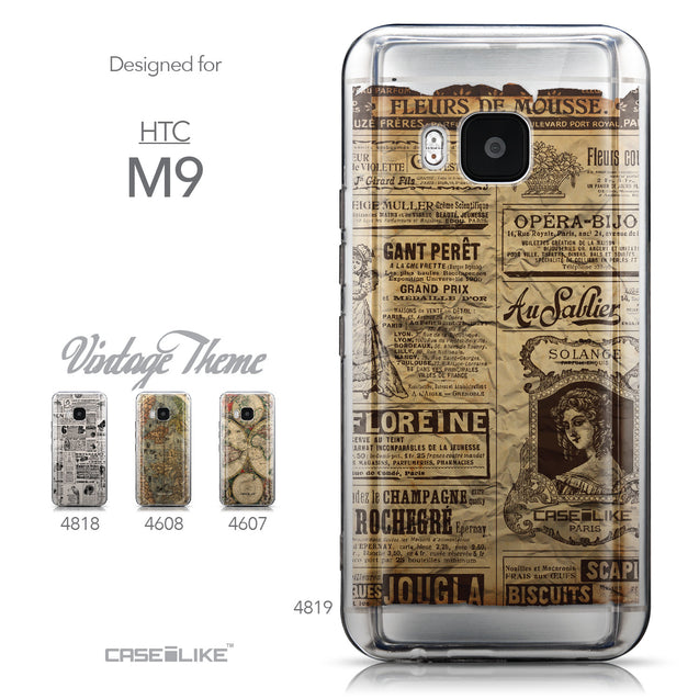 Collection - CASEiLIKE HTC One M9 back cover Vintage Newspaper Advertising 4819