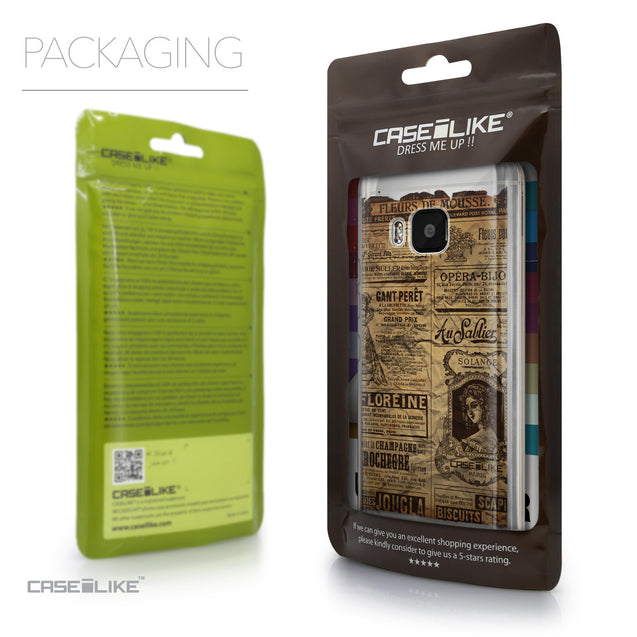 Packaging - CASEiLIKE HTC One M9 back cover Vintage Newspaper Advertising 4819