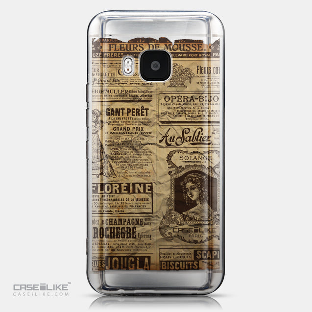 CASEiLIKE HTC One M9 back cover Vintage Newspaper Advertising 4819