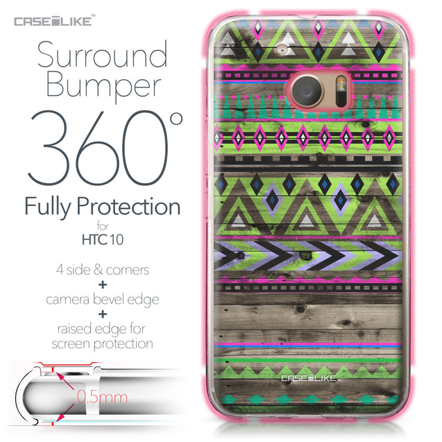 HTC 10 case Indian Tribal Theme Pattern 2049 Bumper Case Protection | CASEiLIKE.com