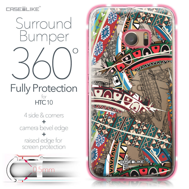 HTC 10 case Indian Tribal Theme Pattern 2055 Bumper Case Protection | CASEiLIKE.com