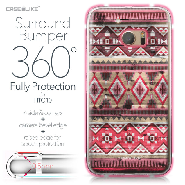 HTC 10 case Indian Tribal Theme Pattern 2057 Bumper Case Protection | CASEiLIKE.com