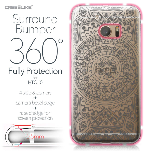 HTC 10 case Indian Line Art 2063 Bumper Case Protection | CASEiLIKE.com
