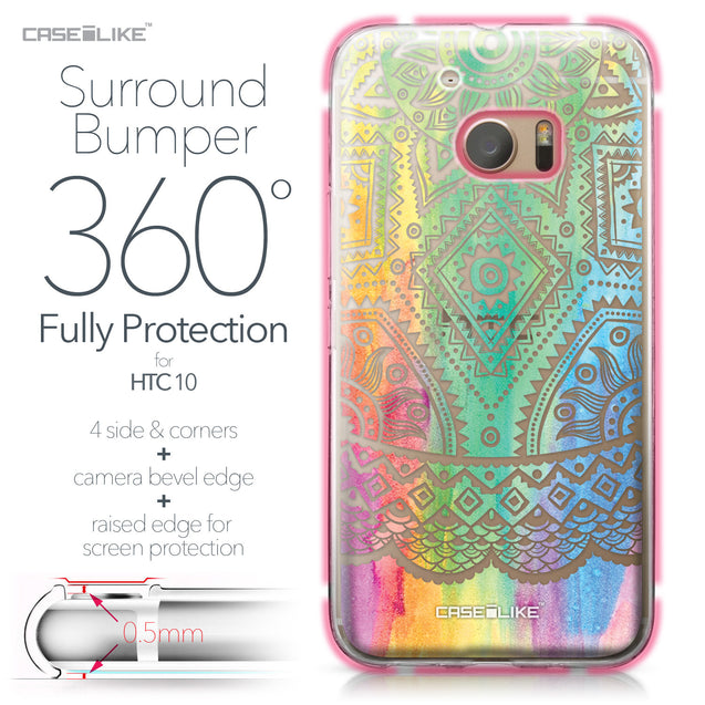 HTC 10 case Indian Line Art 2064 Bumper Case Protection | CASEiLIKE.com