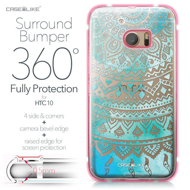 HTC 10 case Indian Line Art 2066 Bumper Case Protection | CASEiLIKE.com