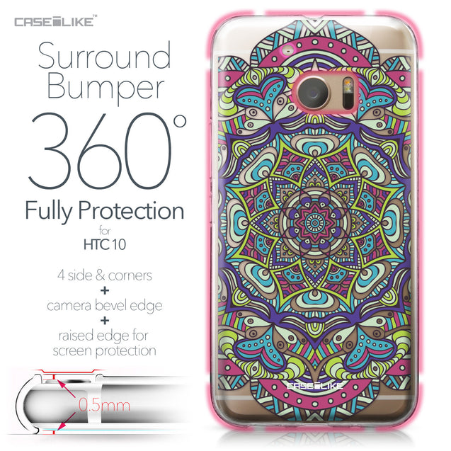 HTC 10 case Mandala Art 2094 Bumper Case Protection | CASEiLIKE.com