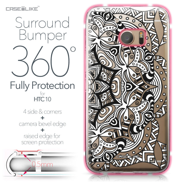 HTC 10 case Mandala Art 2096 Bumper Case Protection | CASEiLIKE.com