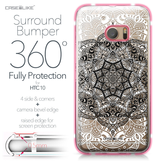 HTC 10 case Mandala Art 2097 Bumper Case Protection | CASEiLIKE.com
