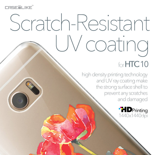 HTC 10 case Watercolor Floral 2230 with UV-Coating Scratch-Resistant Case | CASEiLIKE.com