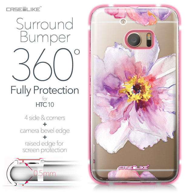 HTC 10 case Watercolor Floral 2231 Bumper Case Protection | CASEiLIKE.com