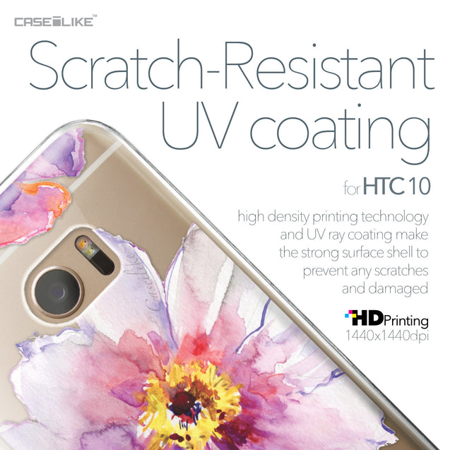 HTC 10 case Watercolor Floral 2231 with UV-Coating Scratch-Resistant Case | CASEiLIKE.com