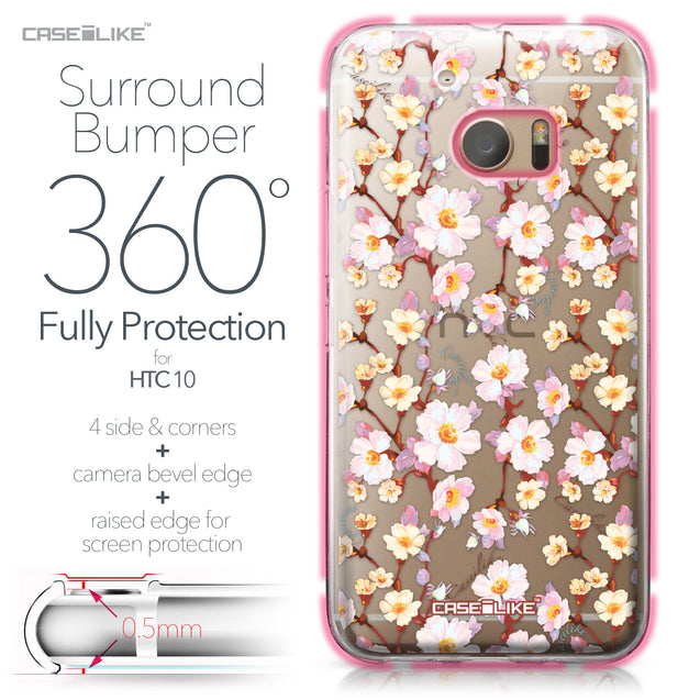 HTC 10 case Watercolor Floral 2236 Bumper Case Protection | CASEiLIKE.com