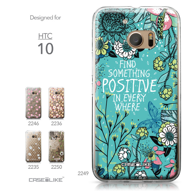 HTC 10 case Blooming Flowers Turquoise 2249 Collection | CASEiLIKE.com