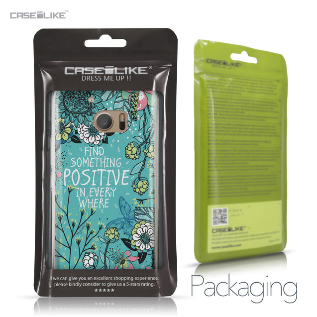 HTC 10 case Blooming Flowers Turquoise 2249 Retail Packaging | CASEiLIKE.com