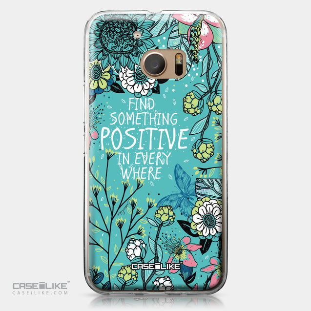 HTC 10 case Blooming Flowers Turquoise 2249 | CASEiLIKE.com