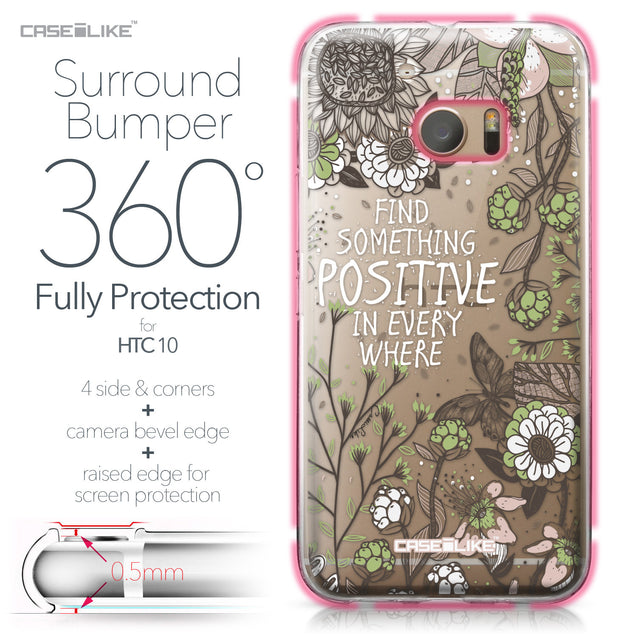 HTC 10 case Blooming Flowers 2250 Bumper Case Protection | CASEiLIKE.com