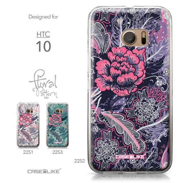 HTC 10 case Vintage Roses and Feathers Blue 2252 Collection | CASEiLIKE.com