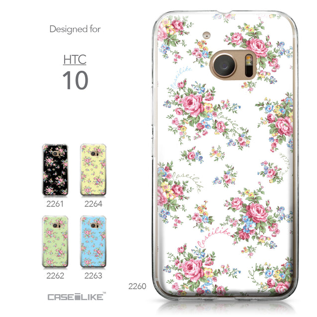 HTC 10 case Floral Rose Classic 2260 Collection | CASEiLIKE.com