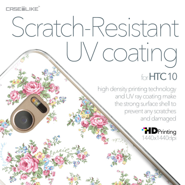 HTC 10 case Floral Rose Classic 2260 with UV-Coating Scratch-Resistant Case | CASEiLIKE.com