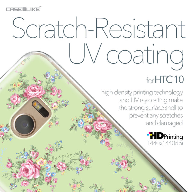 HTC 10 case Floral Rose Classic 2262 with UV-Coating Scratch-Resistant Case | CASEiLIKE.com