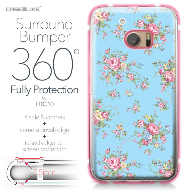 HTC 10 case Floral Rose Classic 2263 Bumper Case Protection | CASEiLIKE.com
