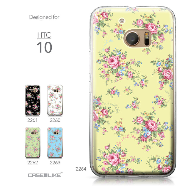 HTC 10 case Floral Rose Classic 2264 Collection | CASEiLIKE.com